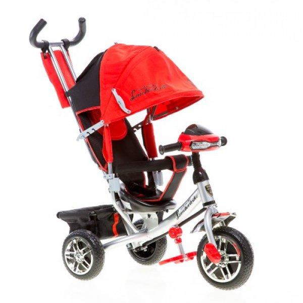Трёхколёсный велосипед Azimut Lambortrike c фарой красный
