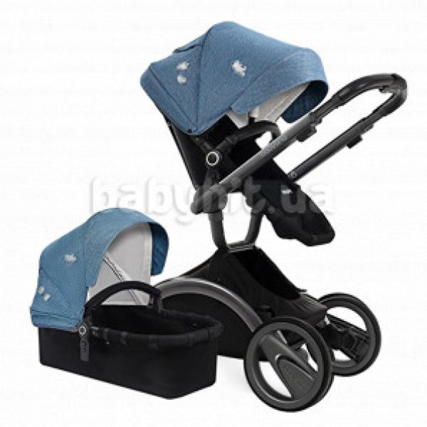 Универсальная коляска 2 в 1 Babysing V-GO Jeans blue