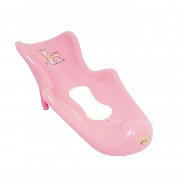 """Maltex. Сиденье для ванны """"Зебра"""" с нескользящим ковриком - розовый"""