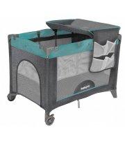 Кроватка-манеж Babyhit с пеленальным столиком 100х70, Серый