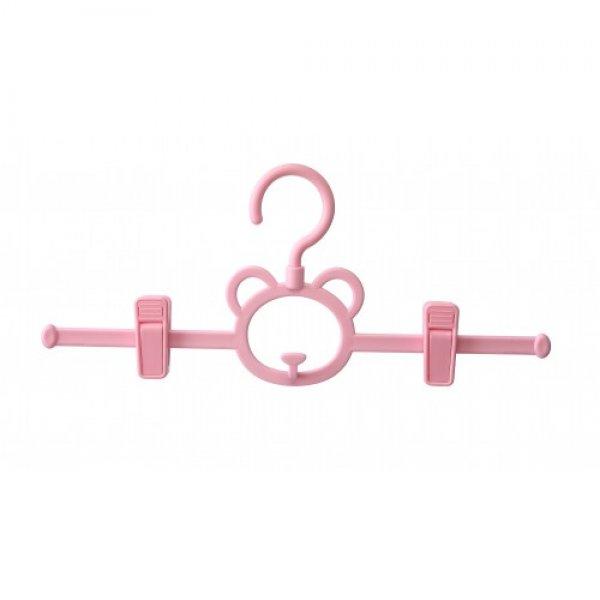 Вешалка детская с держателями, розовая Babyhood
