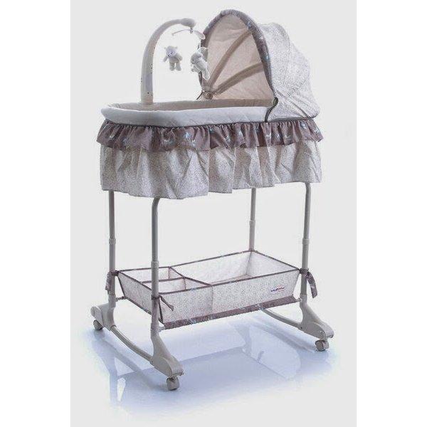 Кроватка-колыбель Baby Point Regina 3в1 бежевый