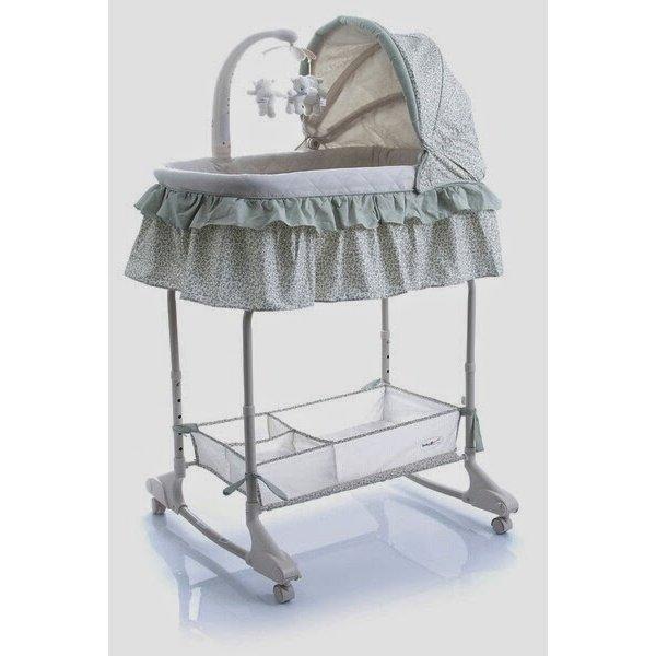 Кроватка-колыбель Baby Point Regina 3в1 зеленый