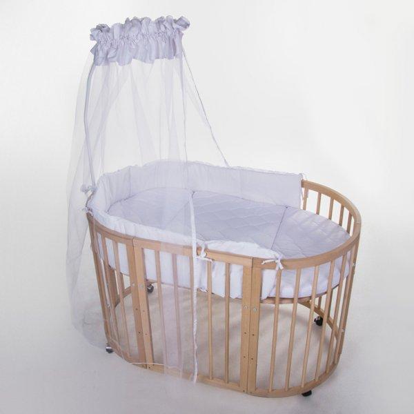 Детская овальная кроватка трансформер BANIBOO - 7 в 1 (Stokke Sleepi)