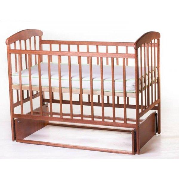 Кроватка для новорожденных Наталка с маятниковым механизмом (без ящика), цвет темный