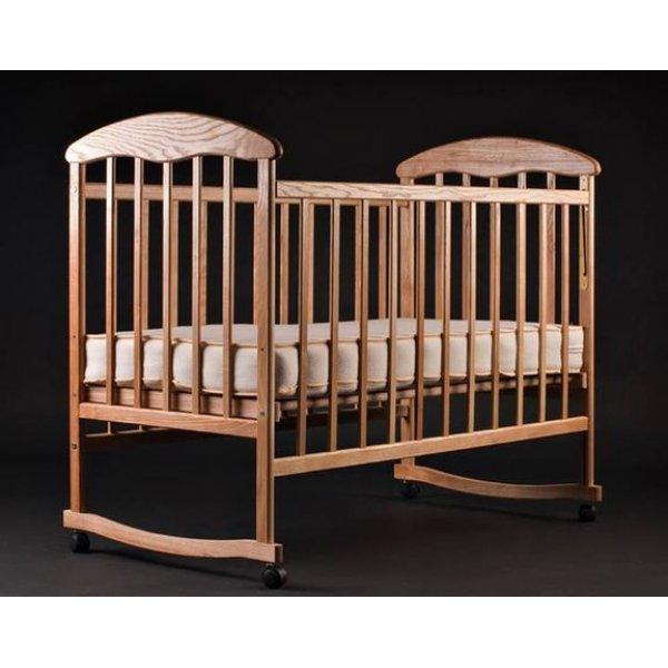 """Кроватка для новорожденных Наталка """"Ясень"""" нелакированный"""
