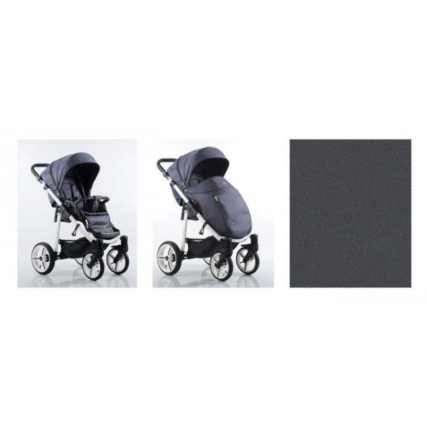 Прогулочная коляска Bebetto NICO (230) темно-серый (белая, чёрная рама)