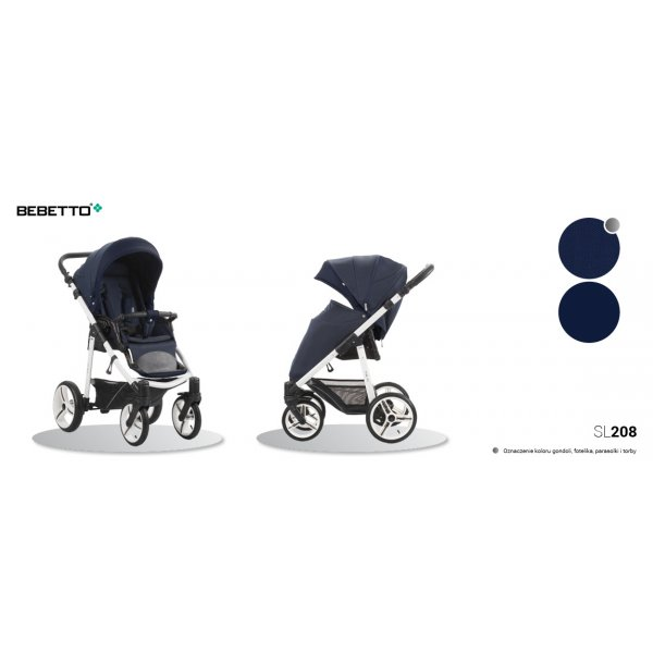 Прогулочная коляска Bebetto NICO (208) темно-синий