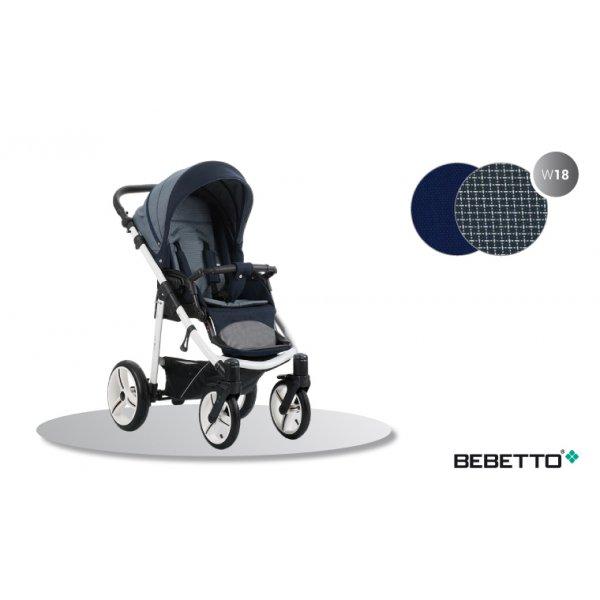 Прогулочная коляска Bebetto NICO (W18) синий (черная рама)