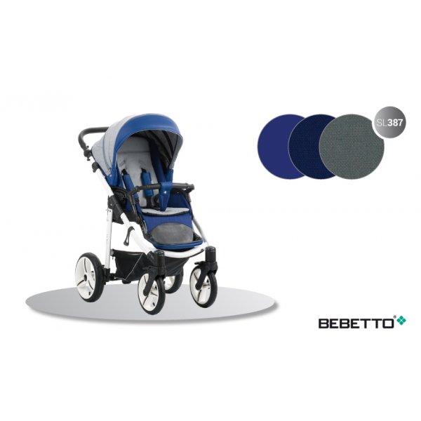 Прогулочная коляска Bebetto NICO (SL387) синий с серым