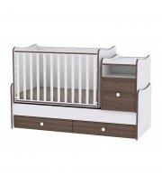 Детская кровать-трансформер 6 в 1 Trend White Walnut