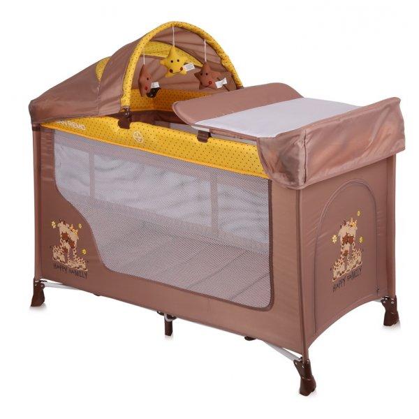 Манеж-кровать Lorelli San Remo 2L Plus Beige&Yellow Happy Family