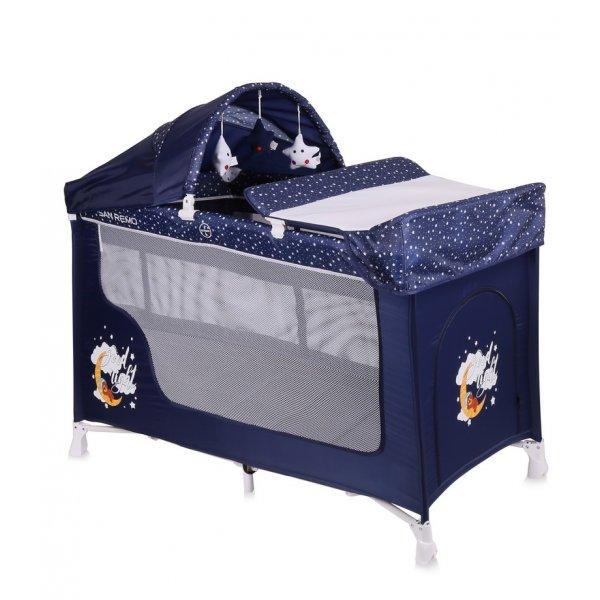 Манеж-кровать Lorelli San Remo 2L Plus Blue Good Night Bear