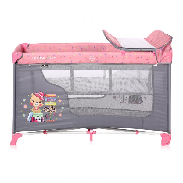 Кровать-манеж Lorelli Moonlight 2L Розовый