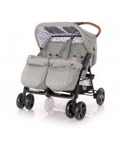 Детская коляска для двойни Lorelli Twin Серый