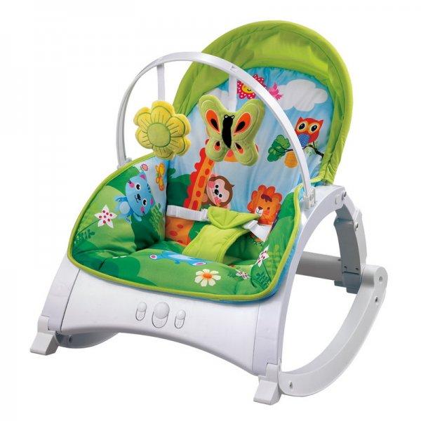 Шезлонг, кресло-качалка Lorelli Enjoy Jungle Green