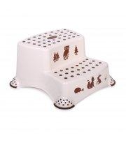 Детская двойная ступенька для ванной Lorelli Бело-коричневый
