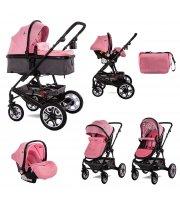 Детская коляска Lorelli Lora set Розовый