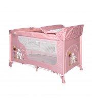 Кровать-манеж Lorelli Moonlight 2 Layers Светло-розовый