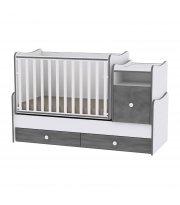 Детская кровать-трансформер 6 в 1 Trend White Vintage Gray