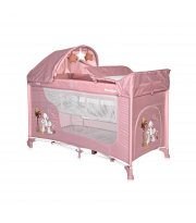 Кровать-манеж Lorelli Moonlight Rocker 2 Layers Темно-розовый