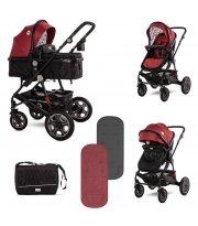 Детская коляска Lorelli Lora 2 в 1 Красный