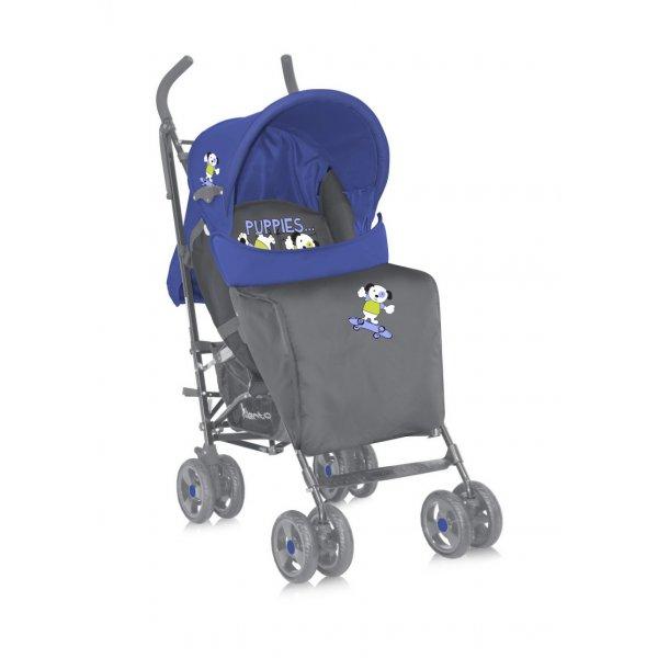 Коляска-трость Bertoni Fiesta blue-grey puppies