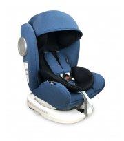 Автокресло LORELLI Lusso + SPS + Isofix 0+/1/2/3 (0-36kg) blue&black