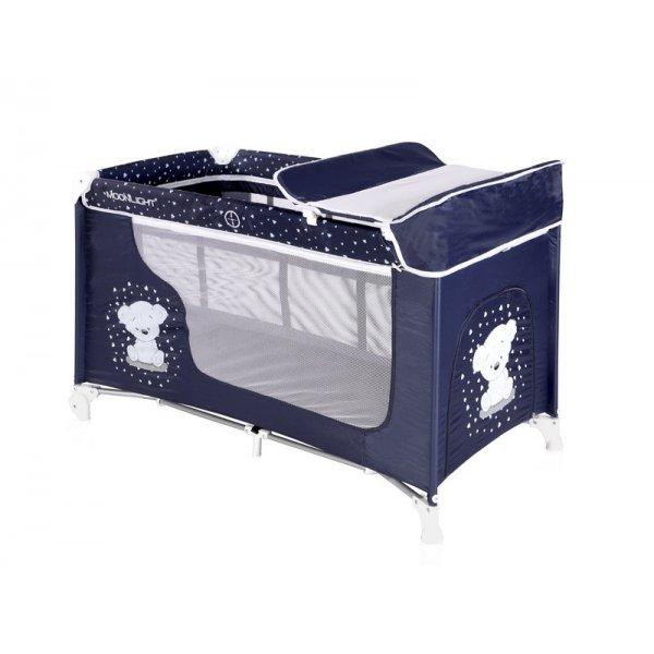 Кровать-манеж LORELLI Moonlight 2 dark blue teddy bear