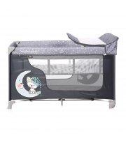 Кровать-манеж Lorelli Moonlight 2L Серый с синим