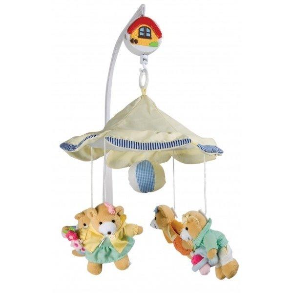 Плюшевый мобиль на кроватку Медвежата-девочки