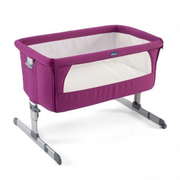 Детская кроватка-манеж Chicco Next to Me розовый (79339.68)