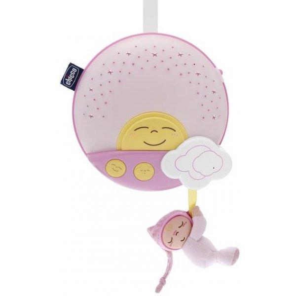 Панель на кроватку с проектором Chicco Sunset Розовый