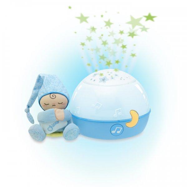 Проектор с игрушкой Chicco Звезды Голубой