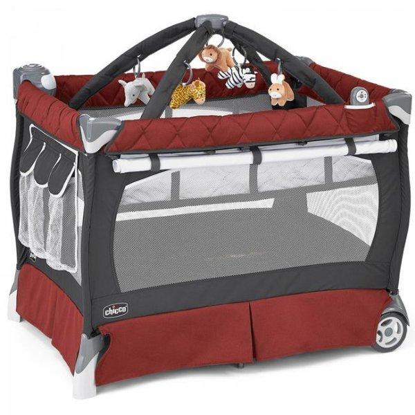 Кроватка-манеж Chicco Lullaby LX красный (79059.78)