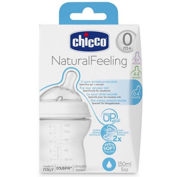 Бутылочка пластиковая Chicco Step Up New (150 мл) соска силикон, 0м+