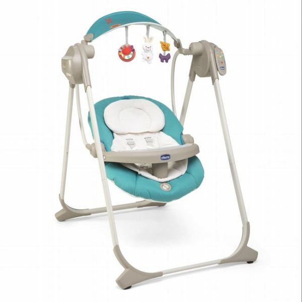 Кресло-качалка Chicco Polly Swing Up бирюзовый (79110.84)