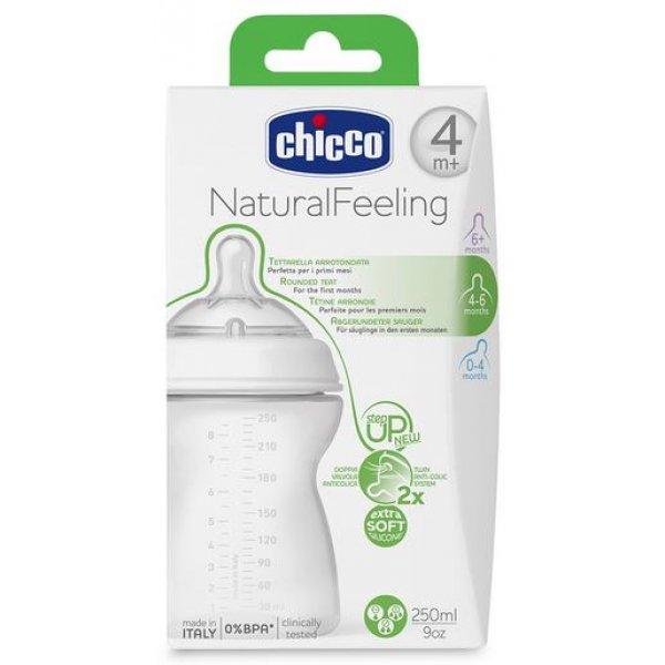 Бутылочка пластиковая Chicco Step Up New (250 мл) соска силикон, 4м+