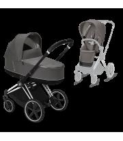 Универсальная коляска Priam 2 в 1 Chrome Edition Soho Grey/Сhrome Black