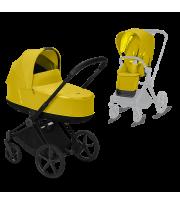 Универсальная коляска Priam 2 в 1 Matt Edition Mustard Yellow/Matt Black