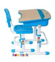 Комплект FunDesk Парта и стул-трансформеры Capri Blue