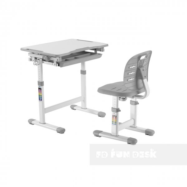 Комплект парта + стул трансформеры Piccolino III Grey FunDesk