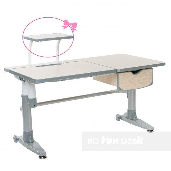Парта-трансформер для школьника FunDesk Ballare Grey с выдвижным ящиком