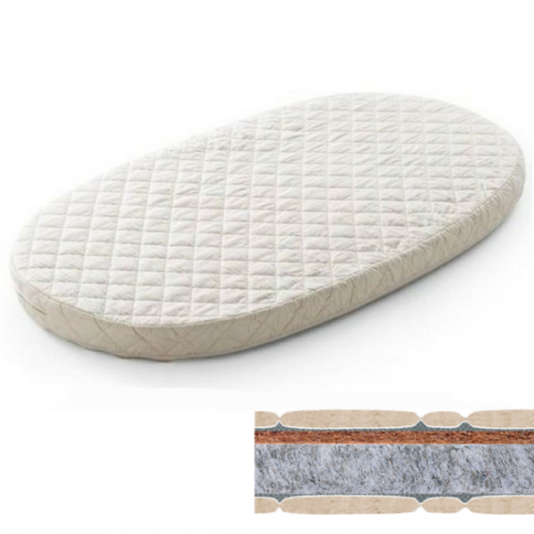 Овальный матрас на кроватку BAGGYBED, 72х120/60х120, кокос+флексовойлок