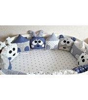 Набор Олени и мишки в домиках 6-в-1 серо-синий