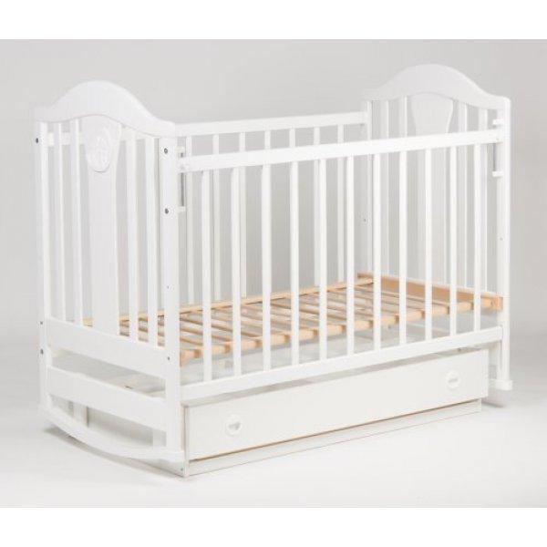 Кроватка детская Наполеон NEW маятник с/ящ, белый