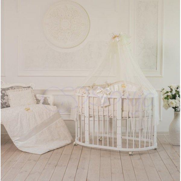 Постельный комплект на овальную кроватку All Baby