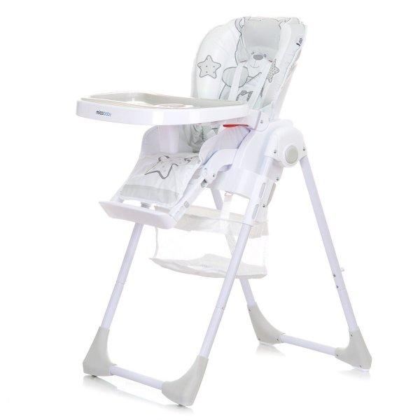 Детский стульчик для кормления Mioobaby TEDDY, white