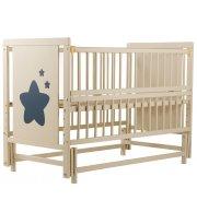 Кровать Babyroom Звездочка Z-02 маятник, откидной бок бук слоновая кость