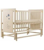 Кровать Babyroom Медвежонок M-02 маятник, откидной бок бук слоновая кость